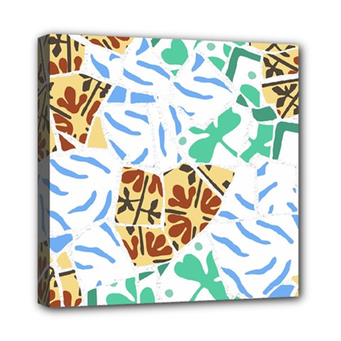 Broken Tile Texture Background Mini Canvas 8  x 8