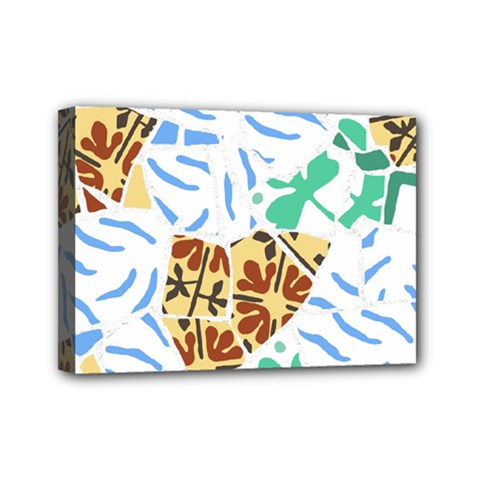 Broken Tile Texture Background Mini Canvas 7  x 5