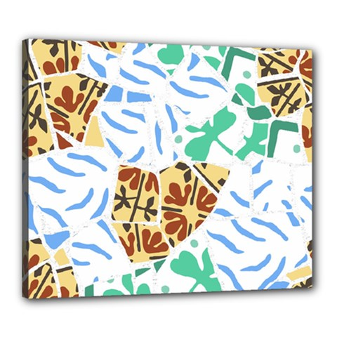 Broken Tile Texture Background Canvas 24  x 20