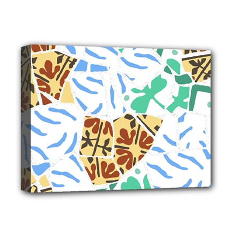 Broken Tile Texture Background Deluxe Canvas 16  x 12