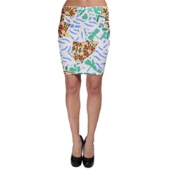 Broken Tile Texture Background Bodycon Skirt