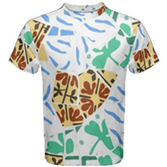 Broken Tile Texture Background Men s Cotton Tee