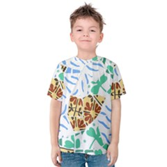 Broken Tile Texture Background Kids  Cotton Tee