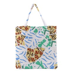 Broken Tile Texture Background Grocery Tote Bag
