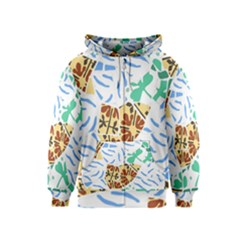 Broken Tile Texture Background Kids  Zipper Hoodie