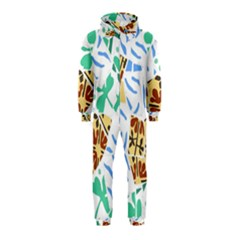 Broken Tile Texture Background Hooded Jumpsuit (Kids)