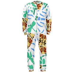 Broken Tile Texture Background OnePiece Jumpsuit (Men)