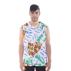 Broken Tile Texture Background Men s Basketball Tank Top