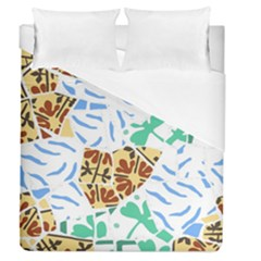 Broken Tile Texture Background Duvet Cover (Queen Size)