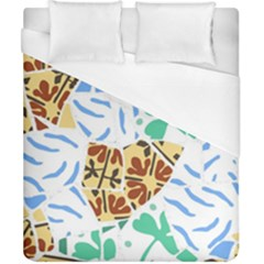 Broken Tile Texture Background Duvet Cover (California King Size)