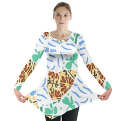 Broken Tile Texture Background Long Sleeve Tunic