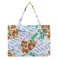 Broken Tile Texture Background Medium Tote Bag