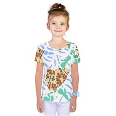 Broken Tile Texture Background Kids  One Piece Tee
