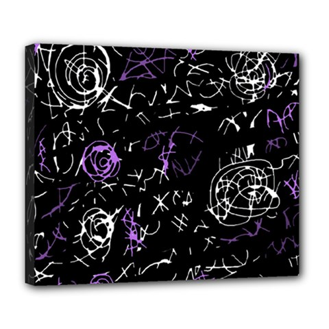 Abstract mind - purple Deluxe Canvas 24  x 20