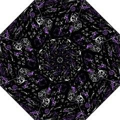 Abstract mind - purple Hook Handle Umbrellas (Large)