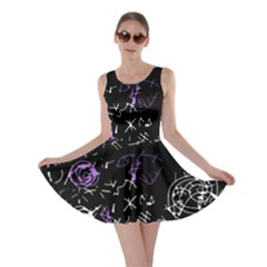 Abstract mind - purple Skater Dress