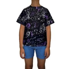Abstract mind - purple Kids  Short Sleeve Swimwear
