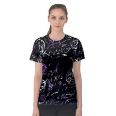Abstract mind - purple Women s Sport Mesh Tee