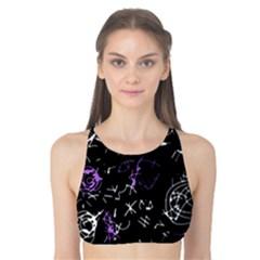 Abstract mind - purple Tank Bikini Top