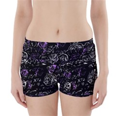Abstract mind - purple Boyleg Bikini Wrap Bottoms