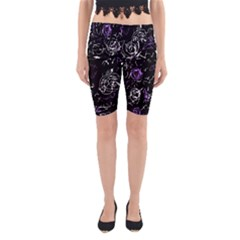 Abstract mind - purple Yoga Cropped Leggings