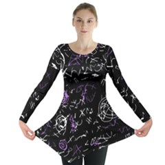 Abstract mind - purple Long Sleeve Tunic