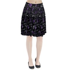 Abstract mind - purple Pleated Skirt