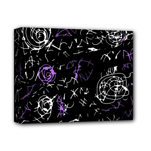 Abstract mind - purple Deluxe Canvas 14  x 11