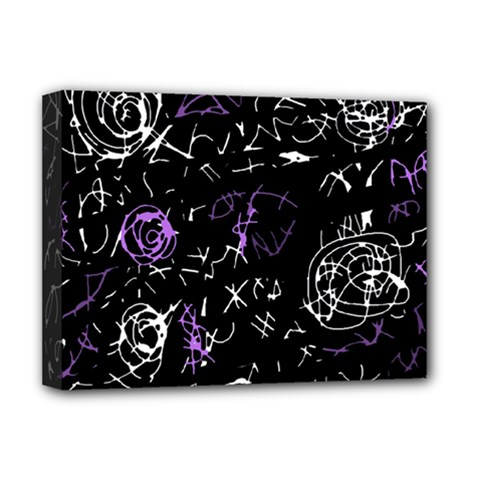 Abstract mind - purple Deluxe Canvas 16  x 12