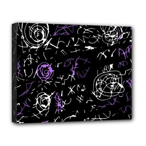 Abstract mind - purple Deluxe Canvas 20  x 16