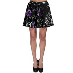 Abstract mind - purple Skater Skirt