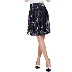 Abstract mind - purple A-Line Skirt