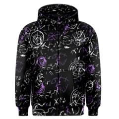 Abstract mind - purple Men s Zipper Hoodie
