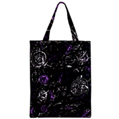 Abstract mind - purple Zipper Classic Tote Bag