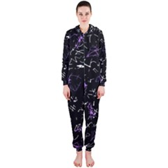 Abstract mind - purple Hooded Jumpsuit (Ladies)