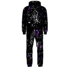 Abstract mind - purple Hooded Jumpsuit (Men)