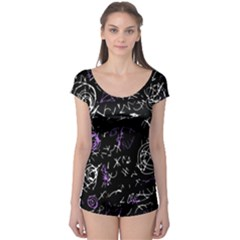Abstract mind - purple Boyleg Leotard
