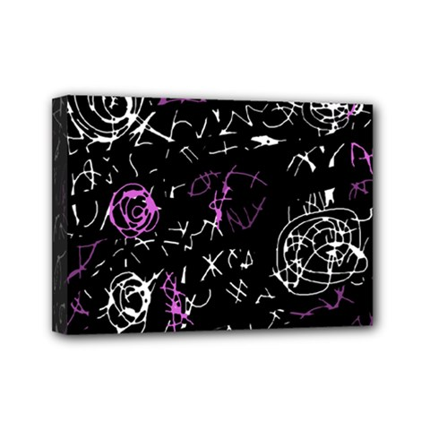 Abstract mind - magenta Mini Canvas 7  x 5