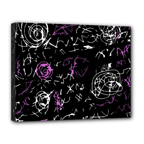 Abstract mind - magenta Canvas 14  x 11