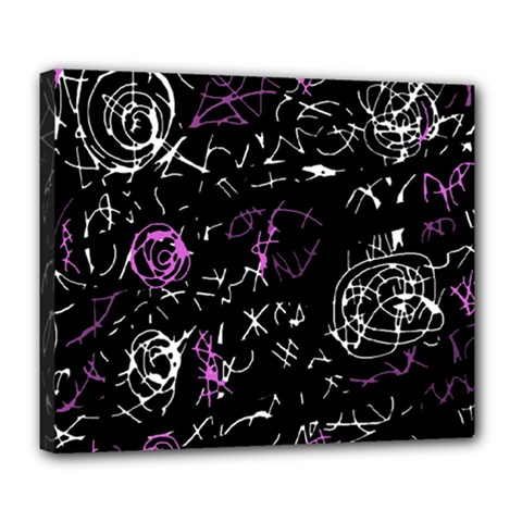 Abstract mind - magenta Deluxe Canvas 24  x 20