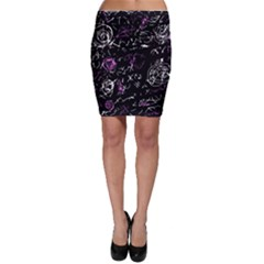 Abstract mind - magenta Bodycon Skirt