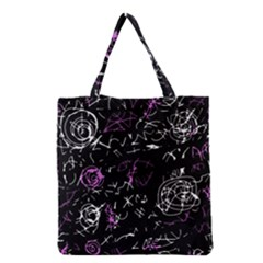 Abstract mind - magenta Grocery Tote Bag