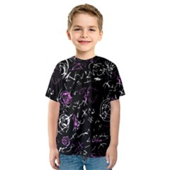 Abstract mind - magenta Kids  Sport Mesh Tee