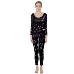 Abstract mind - magenta Long Sleeve Catsuit
