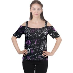 Abstract mind - magenta Women s Cutout Shoulder Tee