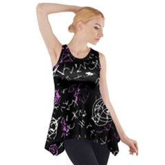 Abstract mind - magenta Side Drop Tank Tunic