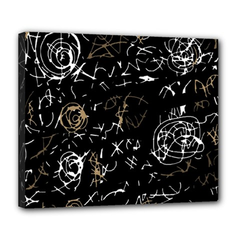 Abstract mind - brown Deluxe Canvas 24  x 20