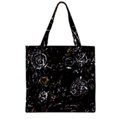Abstract mind - brown Grocery Tote Bag