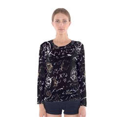 Abstract mind - brown Women s Long Sleeve Tee