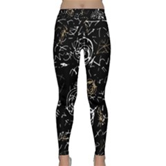 Abstract mind - brown Classic Yoga Leggings